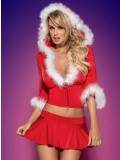OBSESSIVE CHRISTMAS COSTUME SANTA LADY SKIRTY SET 5900308550809