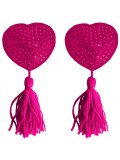 HEART NIPPLE TASSELS OUCH! NIPPLE COVERS PINK 8714273948083