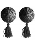 ROUND NIPPLE TASSELS OUCH! NIPPLE COVERS BLACK 8714273948151