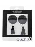 ROUND NIPPLE TASSELS OUCH! NIPPLE COVERS BLACK toy