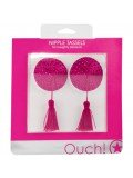 ROUND NIPPLE TASSELS OUCH! NIPPLE COVERS PINK toy