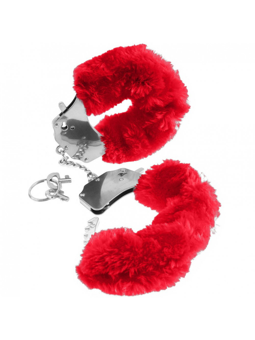 FETISH FANTASY FURRY CUFFS RED 603912105209