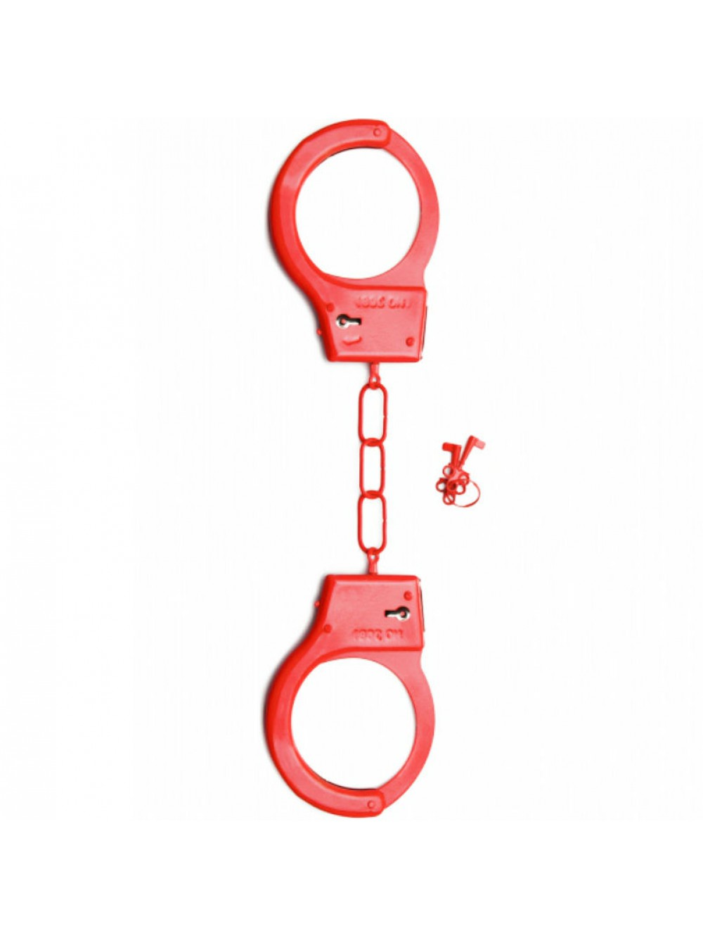 SHOTS METAL HANDCUFFS RED 8714273578105