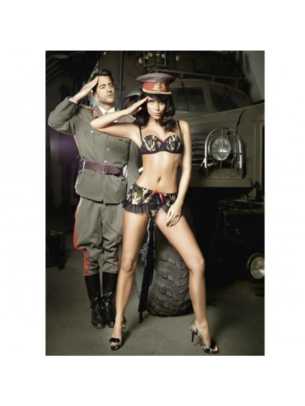 TROOPER BRA & MINI SKIRT CAMO S/M 4890808123850