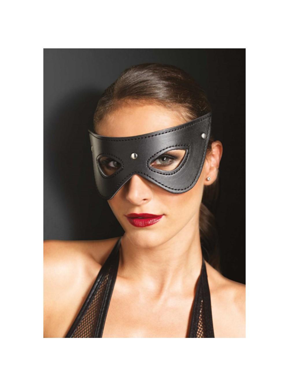 Faux Leather Studded Eye Mask
