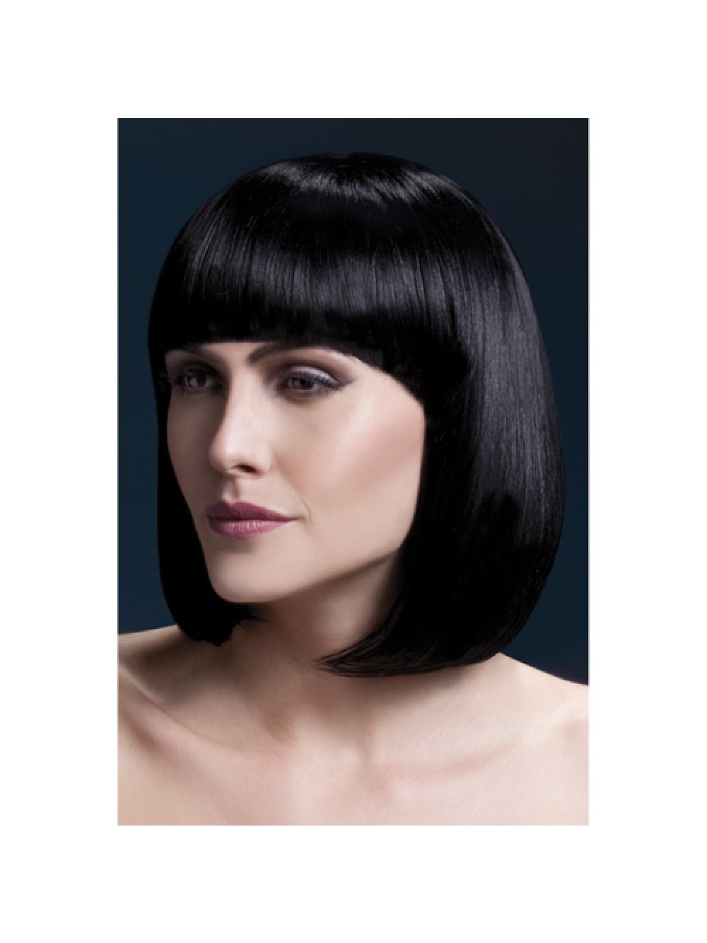 Fever Elise Wig 13inch/33cm Black Sleek Bob with Fringe