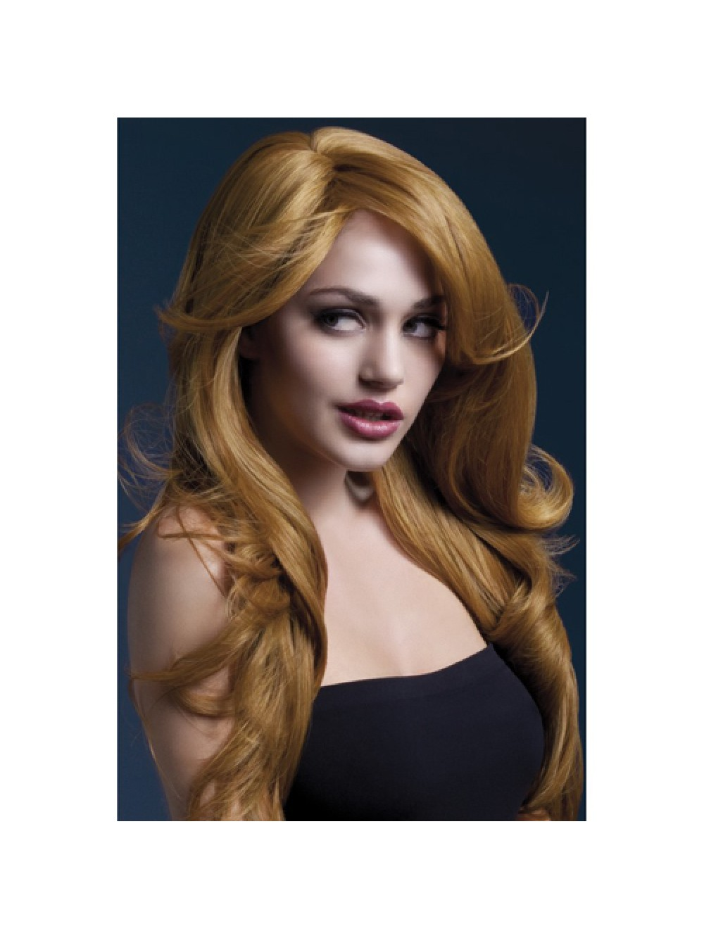 Fever Nicole Wig 26inch/66cm Auburn Soft Wave with Side Parting