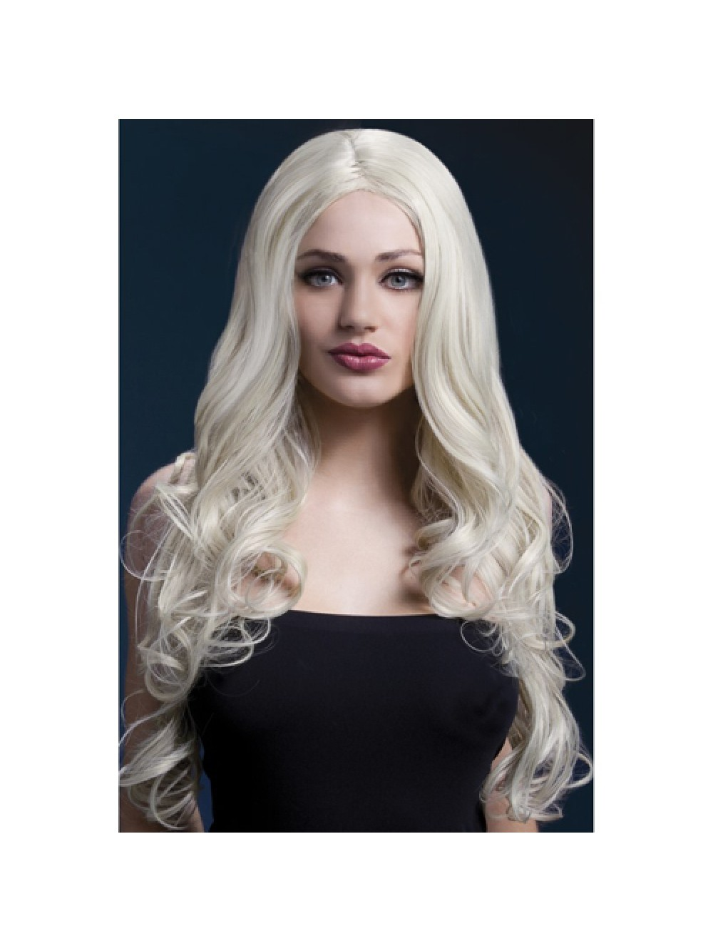 Fever Rhianne Wig 26inch/66cm Blonde Long Soft Curl with Centre Parting