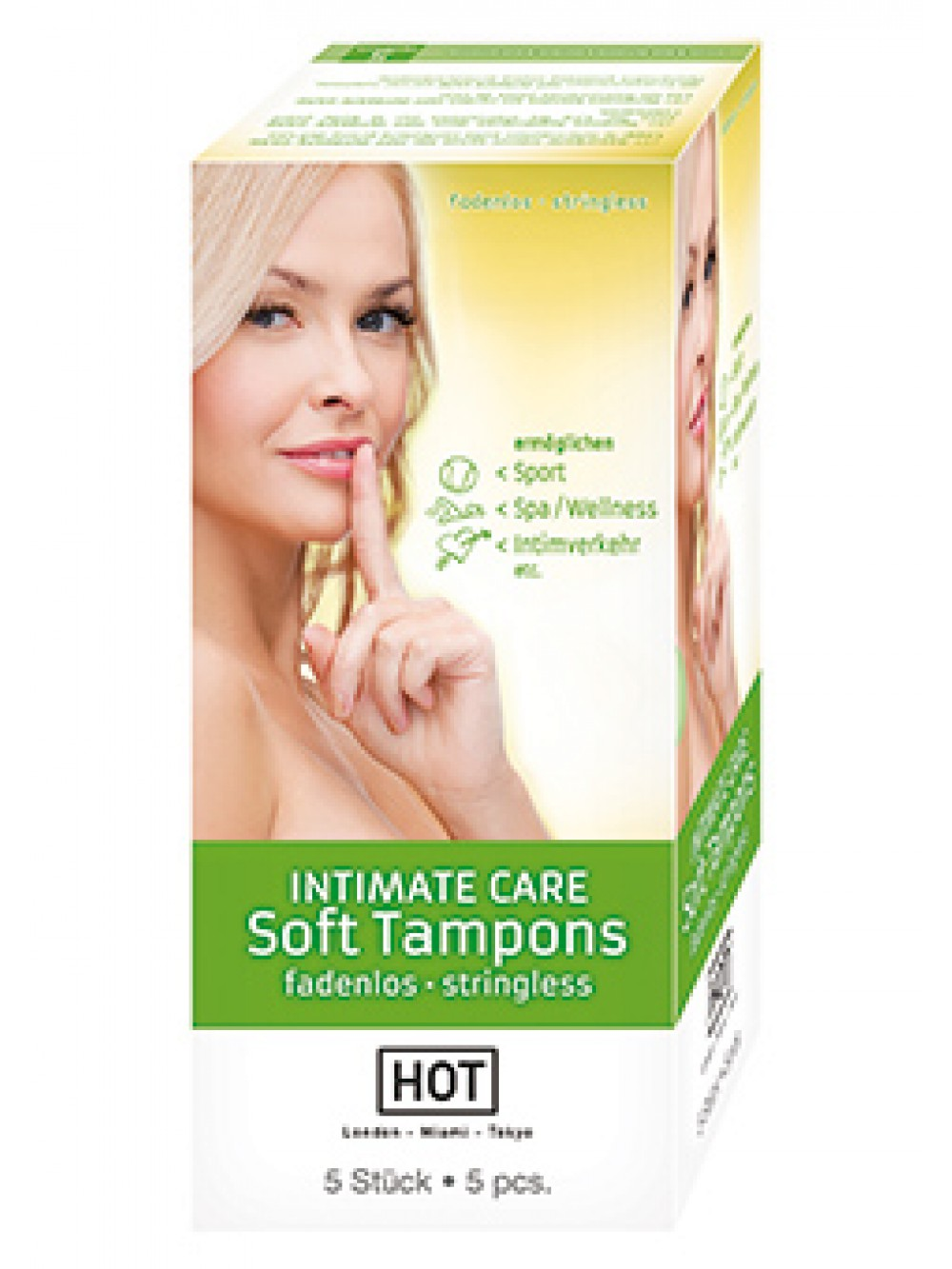 HOT INTIMATE CARE SOFT TAMPONS 5 PC