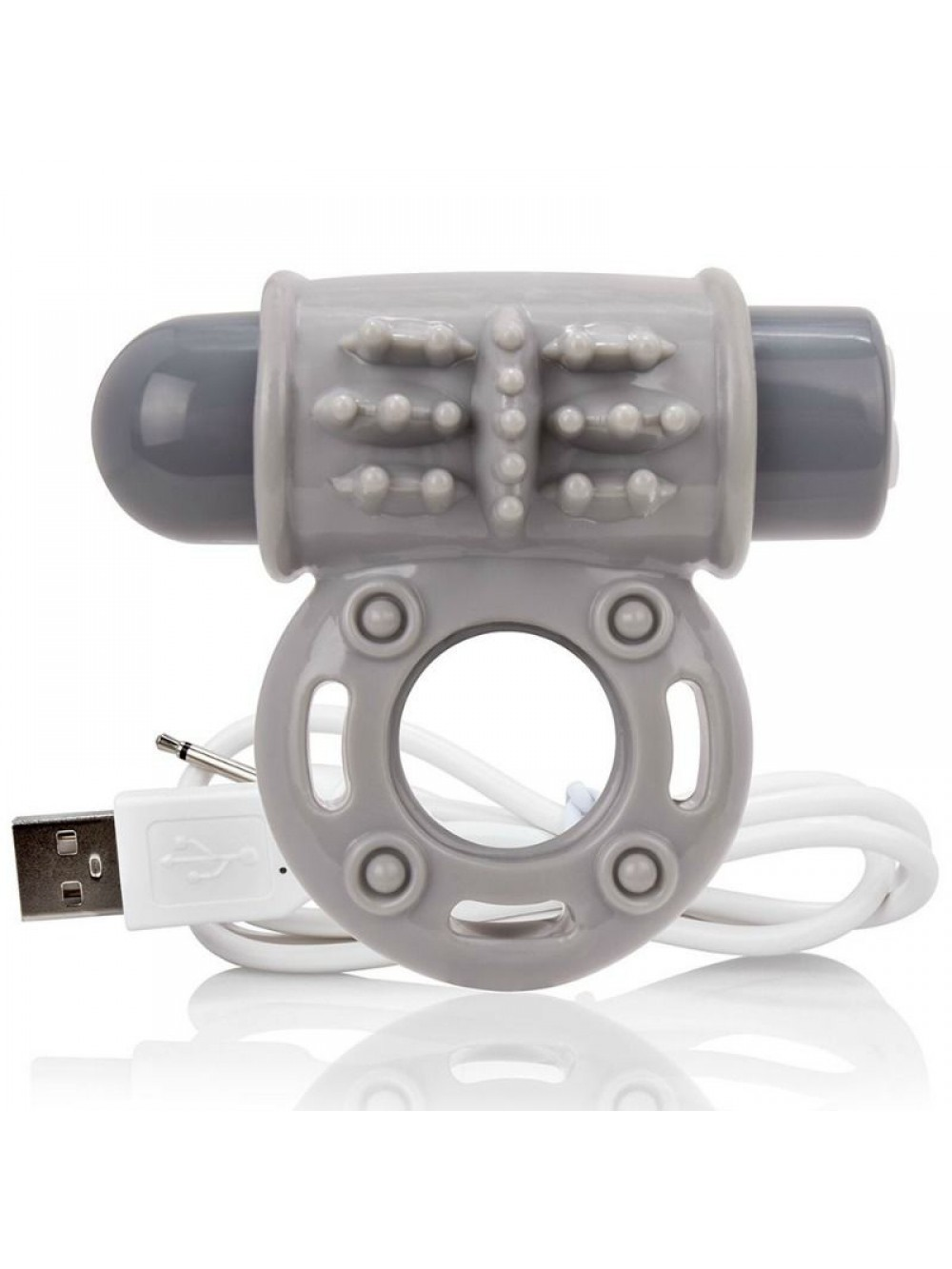 SCREAMING O VIBRATING RECHARGEABLE RING O WOW GREY