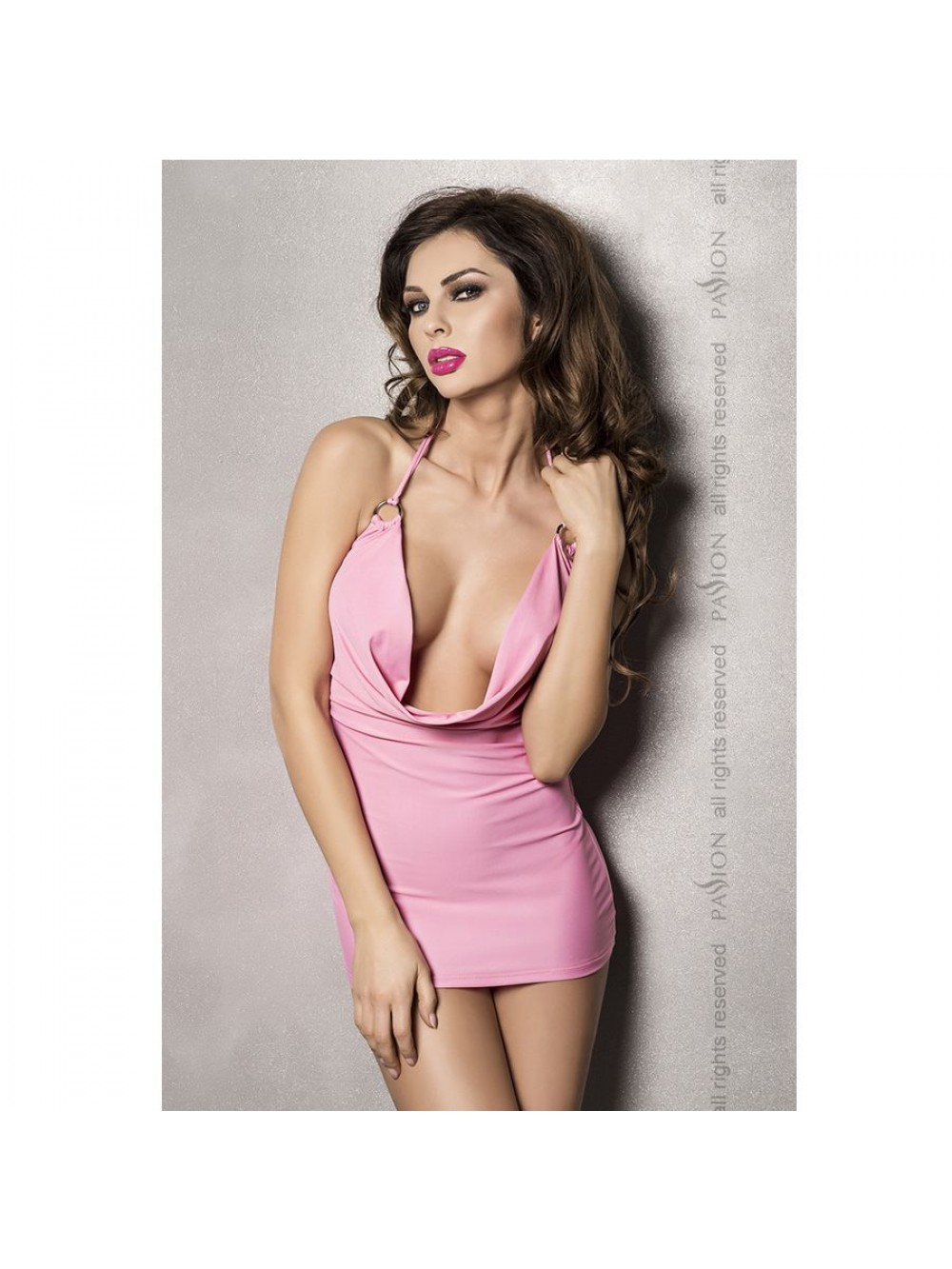 MIRACLE DRESS PINK BY PASSION WOMAN LINGERIE L/XL