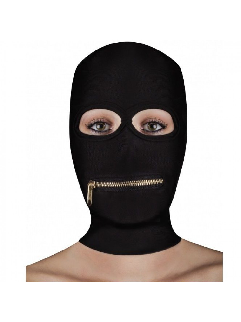 OUCH EXTREME ZIPPER MASK WITH MOUTH ZIPPER