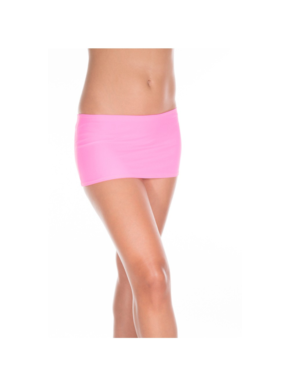 Plain mini skirt NEONPINK