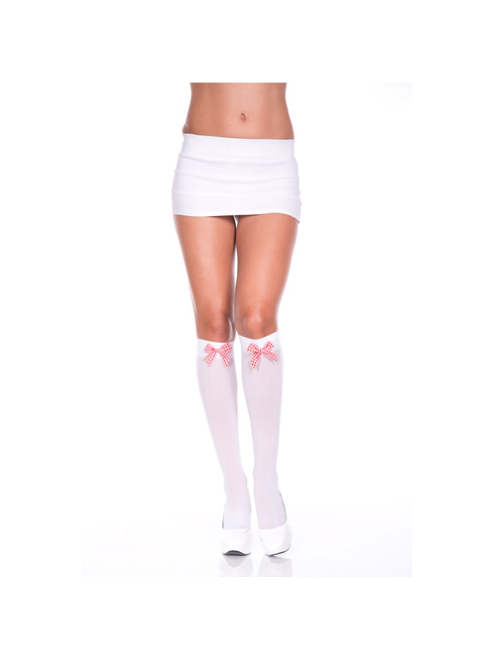 Plain mini skirt WHITE