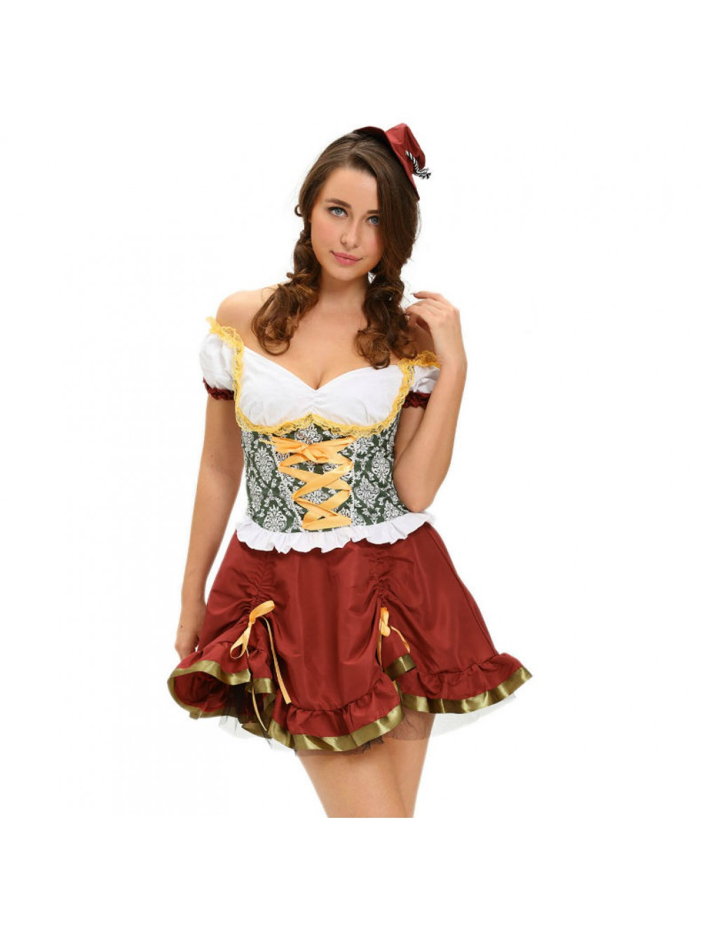 QUEEN COSTUME OCTOBERFEST SET 2 PCS TALLA M