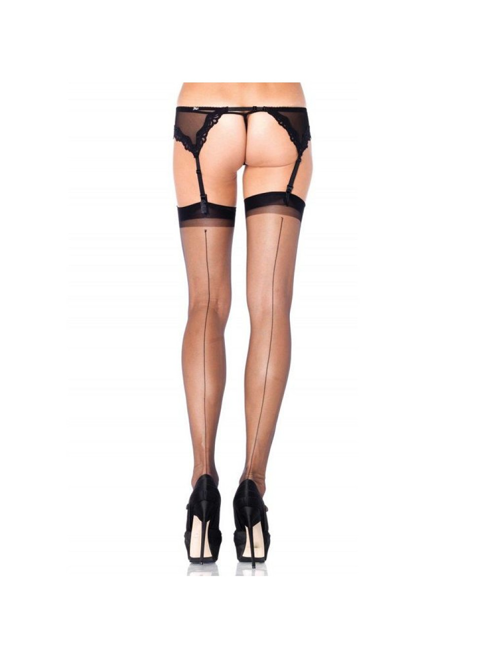 SPANDEX ULTRA SHEER BACK SEAM STOCKINGS