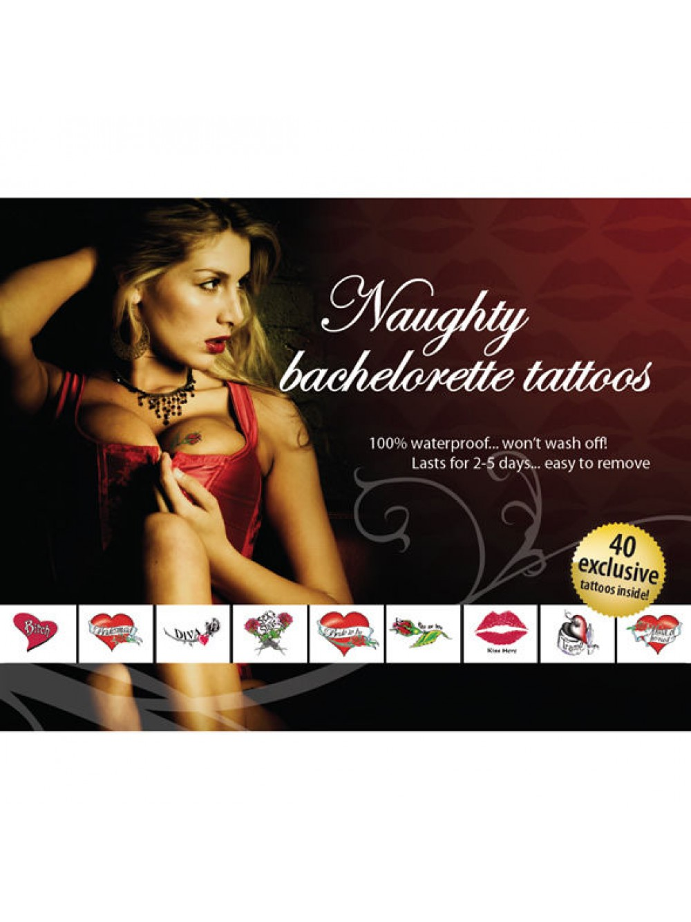 TATTOO SET -NAUGHTY BACHELORETTE